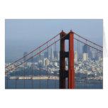 San Francisco seen trough Golden Gate Bridge. Card