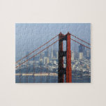 "San Francisco seen trough Golden Gate Bridge. Jigsaw Puzzle<br><div class=""desc"">AssetID: 119949283 / {Guy Vanderelst} / San Francisco seen trough Golden Gate Bridge.</div>"