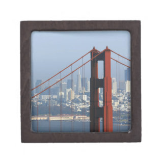 San Francisco seen trough Golden Gate Bridge. Keepsake Box