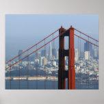 San Francisco seen trough Golden Gate Bridge. Poster