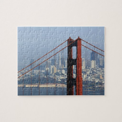San Francisco seen trough Golden Gate Bridge. Puzzle