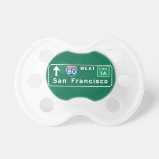 San Francisco, señal de tráfico de CA Chupete De Bebe