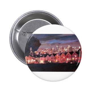 San Francisco - señoras pintadas Chapa Redonda 5 Cm