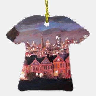San Francisco - señoras pintadas Adorno De Cerámica En Forma De Camiseta