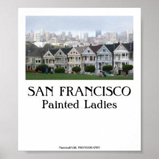 SAN FRANCISCO - señoras pintadas Póster