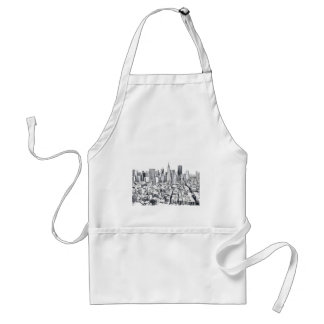 San Francisco SF Citiscape Photograph Adult Apron