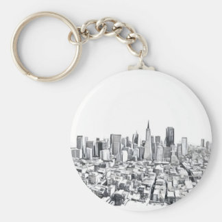 San Francisco SF Citiscape Photograph Keychain