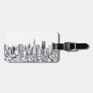 San Francisco SF Citiscape Photograph Luggage Tag