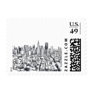San Francisco SF Citiscape Photograph Postage
