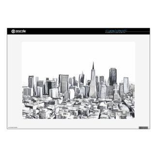 "San Francisco SF Citiscape Photograph Skins For 15"" Laptops"