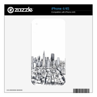 San Francisco SF Citiscape Photograph Skins For The iPhone 4S