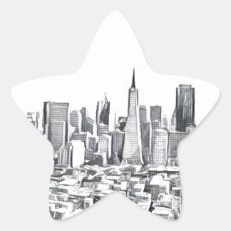 San Francisco SF Citiscape Photograph Star Sticker