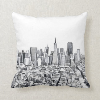 San Francisco SF Citiscape Throw Pillow