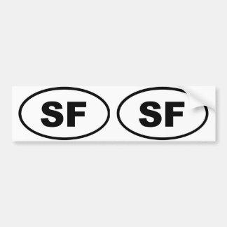 San Francisco SF Pegatina Para Auto