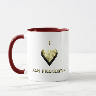 San Francisco -- Shimmering Gold Mug