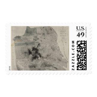 San Francisco showing existing highways Postage Stamp