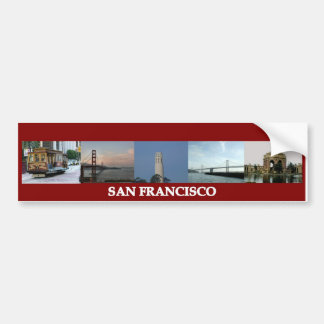 San Francisco Sites Bumper Sticker