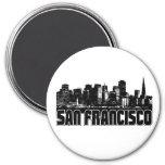 San Francisco Skyline 3 Inch Round Magnet