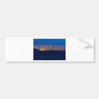 San Francisco Skyline at Dusk Bumper Sticker