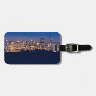 San Francisco Skyline at Dusk Luggage Tag