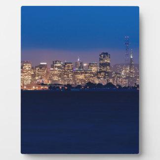 San Francisco Skyline at Dusk Plaque