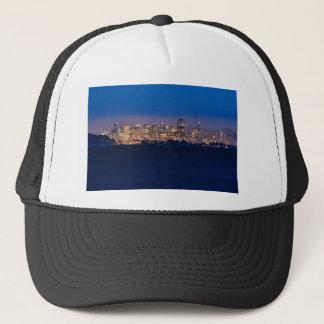 San Francisco Skyline at Dusk Trucker Hat