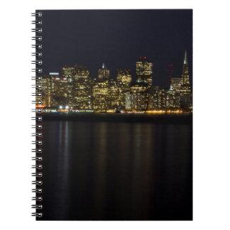 San Francisco Skyline at Night Notebook
