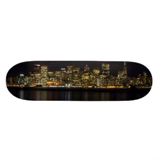 San Francisco Skyline at Night Skateboard
