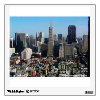 San Francisco skyline from Coit Tower Wall Decal