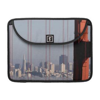 San Francisco Skyline from Golden Gate Bridge. Sleeves For MacBooks