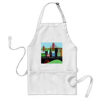 San Francisco Skyline Illustration Apron