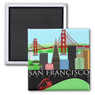 San Francisco Skyline Illustration Magnet