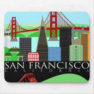 San Francisco Skyline Illustration Mouse Pad