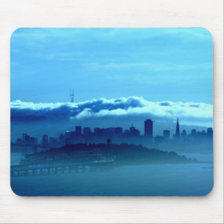 San Francisco Skyline in the Clouds Mouse Pad
