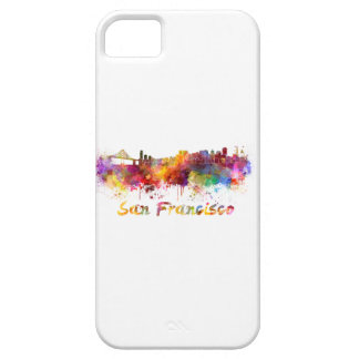 San Francisco skyline in watercolor iPhone SE/5/5s Case