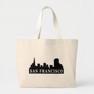 San Francisco Skyline Large Tote Bag