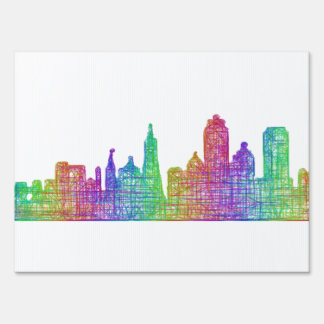 San Francisco skyline Lawn Sign