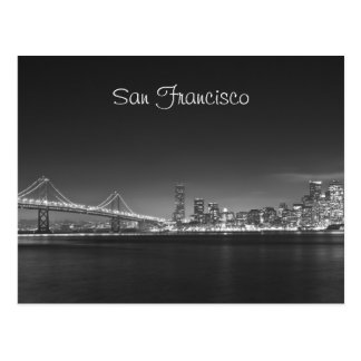 San Francisco Skyline Night Photo Postcard