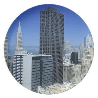 San Francisco, Skyline of Financial District Dinner Plate