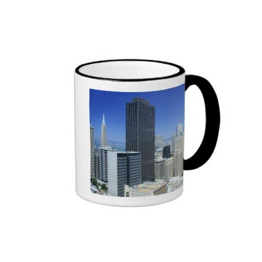 San Francisco, Skyline of Financial District Coffee Mugs