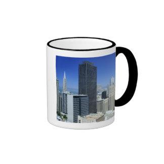 San Francisco, Skyline of Financial District Ringer Coffee Mug