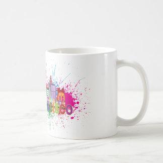 San Francisco Skyline Paint Splatter Illustration Classic White Coffee Mug