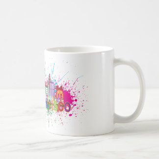 San Francisco Skyline Paint Splatter Illustration Coffee Mug