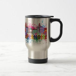 San Francisco Skyline Paint Splatter Illustration Travel Mug