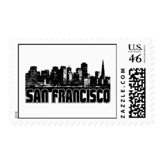 San Francisco Skyline Stamps