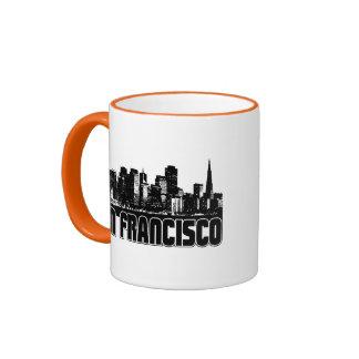 San Francisco Skyline Ringer Mug