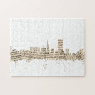 San Francisco Skyline Sheet Music Cityscape Jigsaw Puzzle