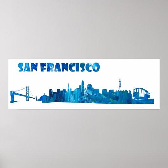 san francisco skyline silhouette poster zazzle com