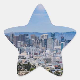 San Francisco Skyline Star Sticker
