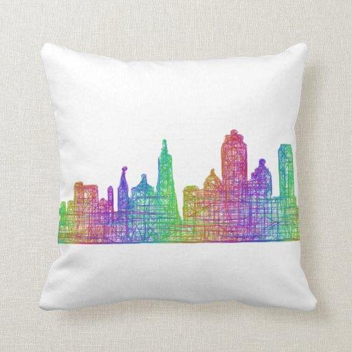 San Francisco skyline Throw Pillow Zazzle